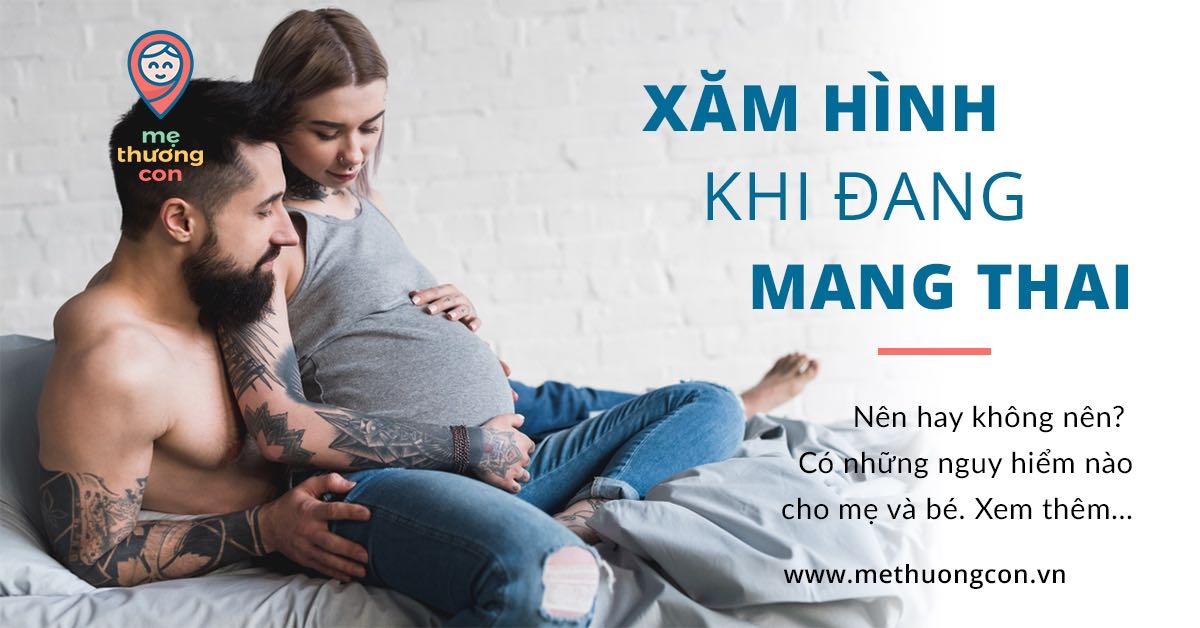 Mẹ bầu có hình xăm khi đang mang thai